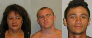 Betty Anzai, Jake Gassett, and Travis Anzai from left to right. HPD photos.