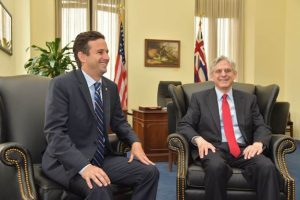 Senator Schatz Meets with U.S. Supreme Court Nominee Garland. Photo courtesy Office of Senator Brian Schatz.