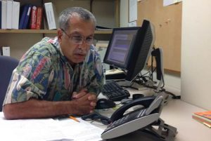 The May 11, 2016 Telephone Town Hall meeting hosted by Rep. Tulsi Gabbard featured expert guests Chief Darryl Oliveira from Hawaiʻi County Civil Defense (shown on the call above) and State Epidemiologist Dr. Sarah Park.