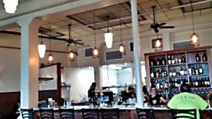 Café Pesto's open and airy bar area. Photo credit: Marla Walters