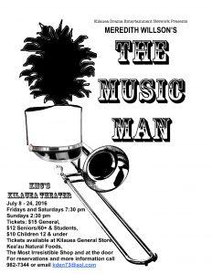 Music Man Poster BW (1)1