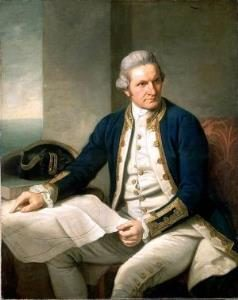 Capt. James Cook. Wikipedia Commons image.