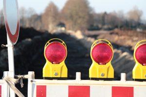 road work closure lane