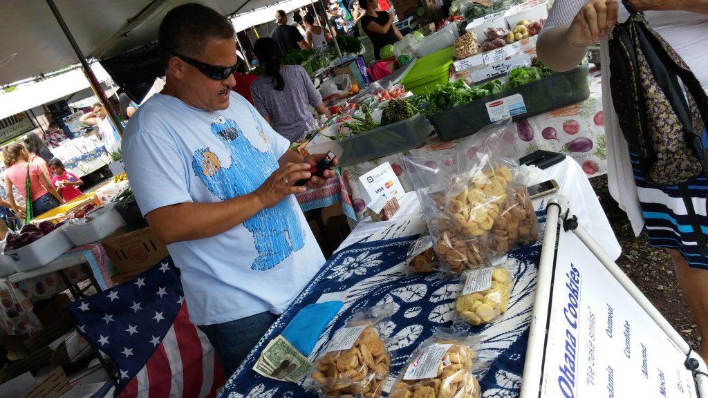 Esket Padeken at the Maku'u Farmers Market. Photo credit: Marla Walters