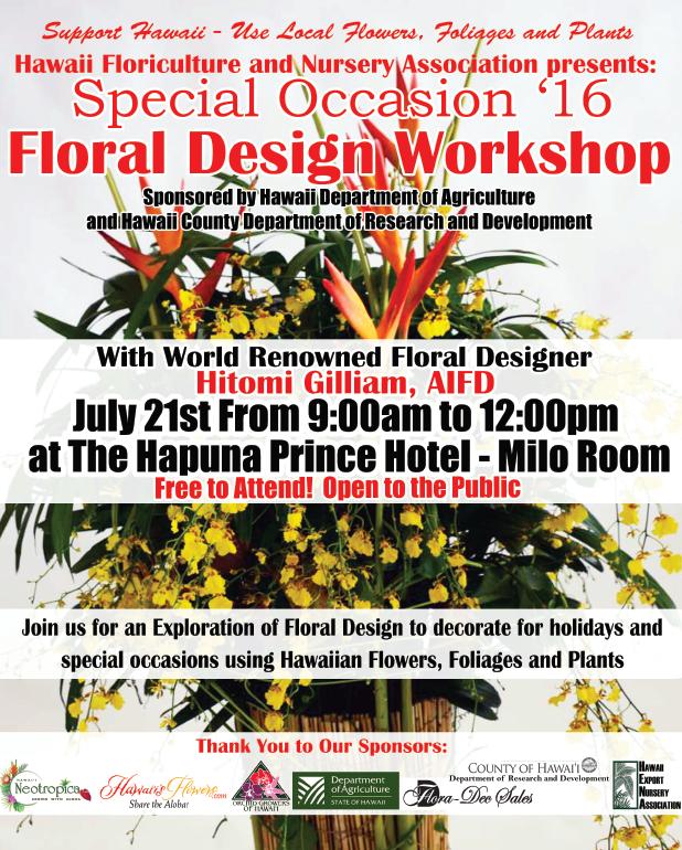 floral design workshop july 2016