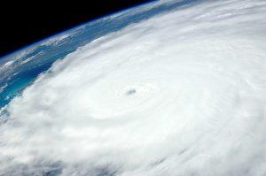 Big Island Now stock photo: Hurricane Irene, International Space Station, 2011.