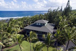 This Kapho oceanfront home helped lead the charge for prices in the Puna District, selling for $899,000. Image courtesy Sophia Yunis, RB, Pacific Ocean Realty LLC.