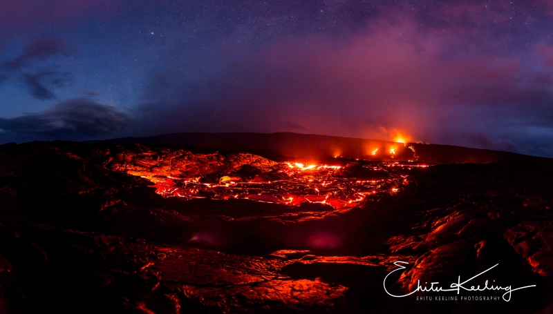 Kalapana lava. July 2016. Ehitu Keeling photo.