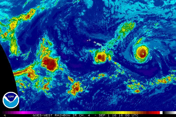 Hurricanes Madeline & Lester, Thursday Sept. 1, 2016, 6 a.m. NOAA/NWS