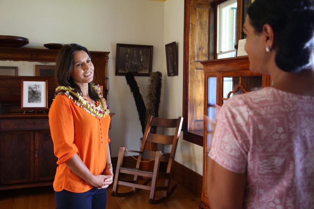 Rep. Tulsi Gabbard tours historic Hulihe'e Palace in Kailua-Kona