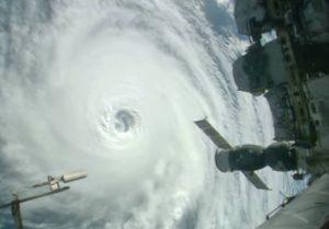 International Space Station photo ofHurricane Lester.