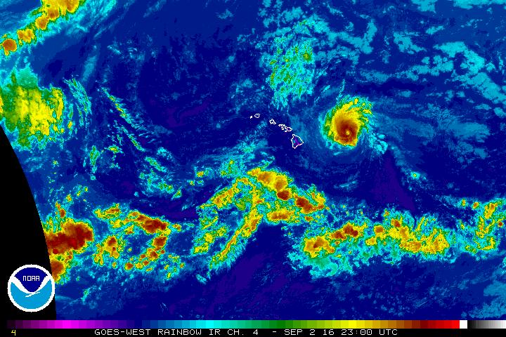 Hurricane Lester, Friday, Sept. 2, 12:30 p.m. NOAA/NWS
