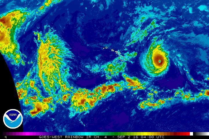 Hurricane Lester, Thursday, Sept. 1, 6 p.m. NOAA/NWS