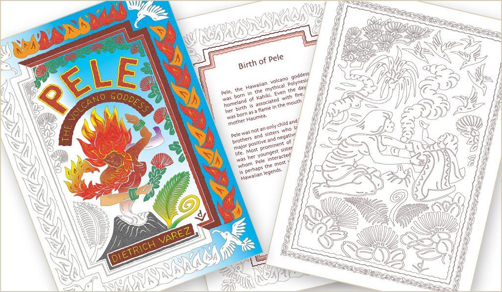 Pele the Volcano Goddess coloring book. Courtesy image.
