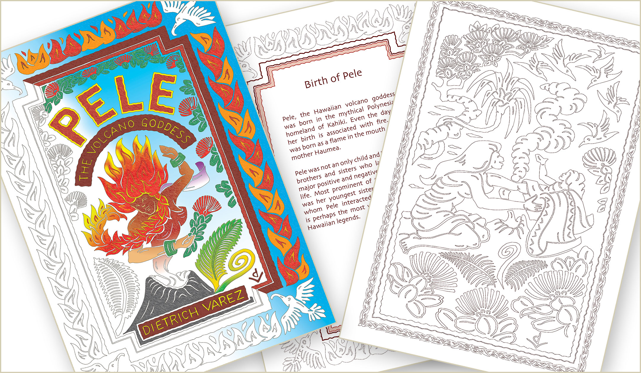 Local Artist Creates Pele Adult Coloring Book Big Island Now