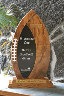 The Kipimana Cup is a goodwill game between private and public schools within a few miles of Kea'au and is hosted by W.H. Shipman Limited of Kea'au.