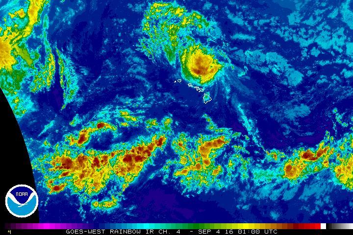 Hurricane Lester. Saturday, Sept. 3, 3:45 p.m.