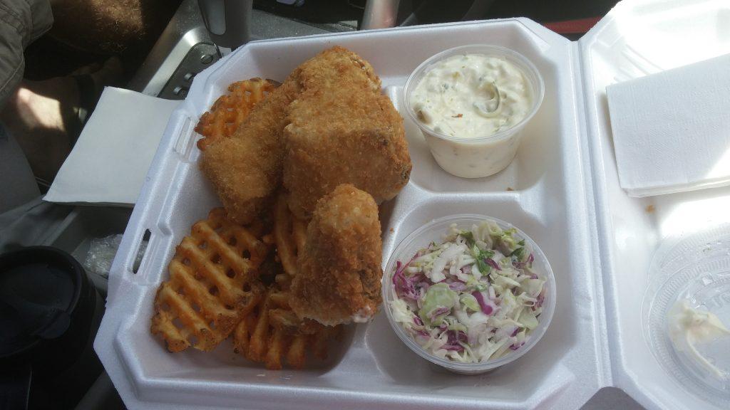 Fish and Chips at Pahoa Fresh Fish. Photo credit: Marla Walters