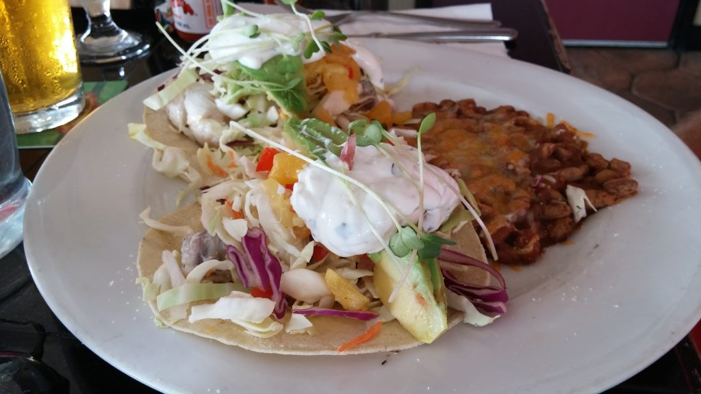 Pineapples' Fish Tacos. Photo credit: Marla Walters