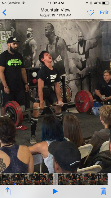 Cyrus Jumalon powerlifting on Aug. 19 in Mountain View, Calif. at the Boss of Bosses Invitational.Courtesy photo.