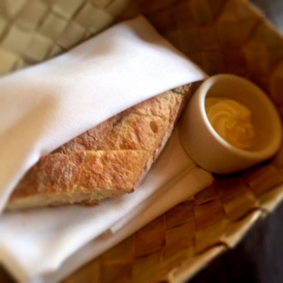 Fresh bread and butter, The Blue Room Brasserie & Bar. Photo: Karen Rose.