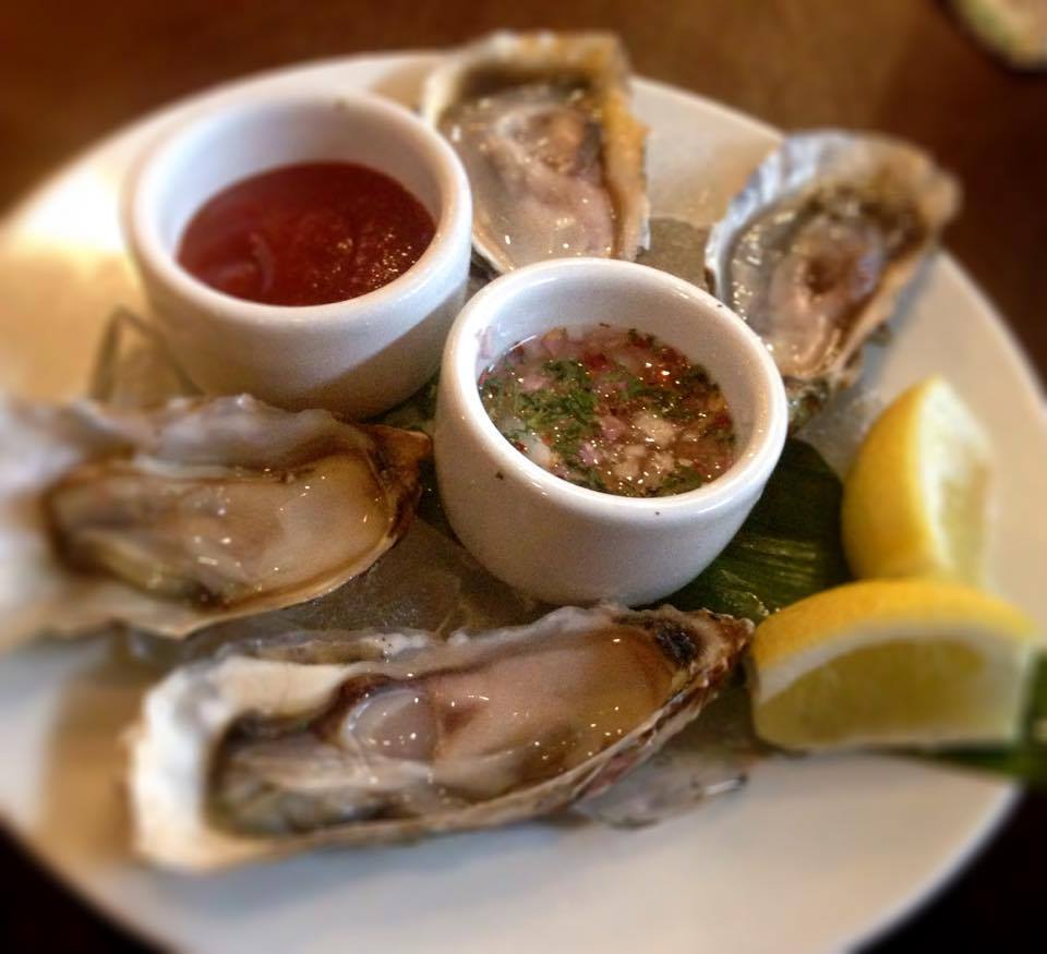 Oysters with Mignonette Sauce, The Blue Room Brasserie & Bar. Photo ...