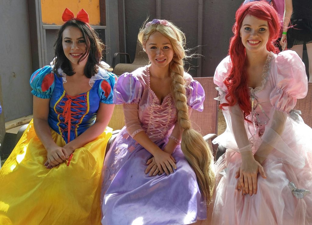 Snow White, Rapunzel and Ariel were socializing taking pictures and talking story with visitors of the farm on Saturday, Oct. 22. Visitors to the farm this Saturday can also expect to find the princesses of Big Island Party Princesses from 11 a.m. to 3 p.m. Photo: Crystal Richard.