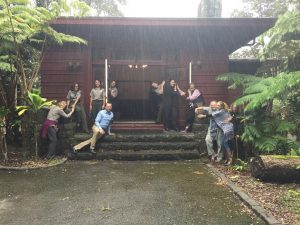 Embracing the new museum -- the former 1932 Administration Building and formerly a lodging facility called the 'Ōhi'a Wing will soon be a new park museum. NPS Photo.