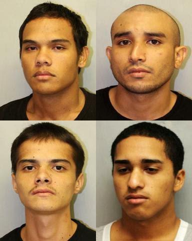 Top left, Isaac Anderson-Belisario; top right, Jason Johnson; bottom left, Joey Gonsalves; bottom right, Theodore Doi. HPD photos