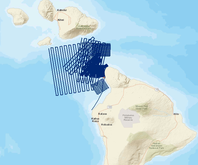 US Coast Guard map of the search area.