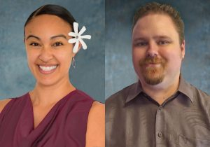 Cassandra Sabado-Evans (left) has been promoted to assistant director of store operations for Mobi PCS and Michael Koenigsfest (right) has been promoted to sales and event manager. Photo Courtesy.