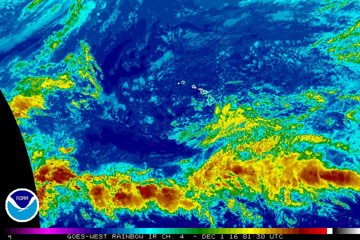 NWS/NOAA satellite image on Wednesday, Nov. 30. 2016, 3:30 p.m.