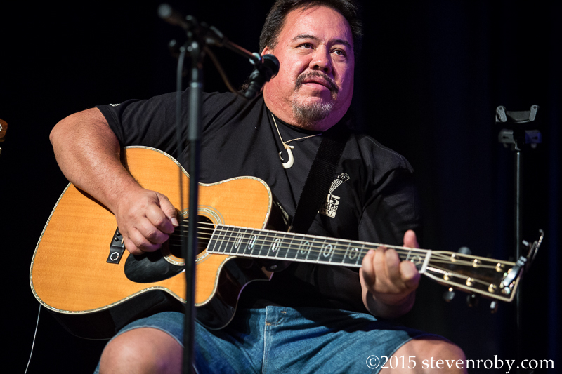 at the 13th Annual Waimea 'Ukulele & Slack Key Guitar Festival at Kahilu Theatre photo: Steven Roby