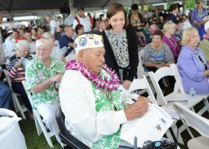 Pearl Harbor survivor Herb Weatherwax
