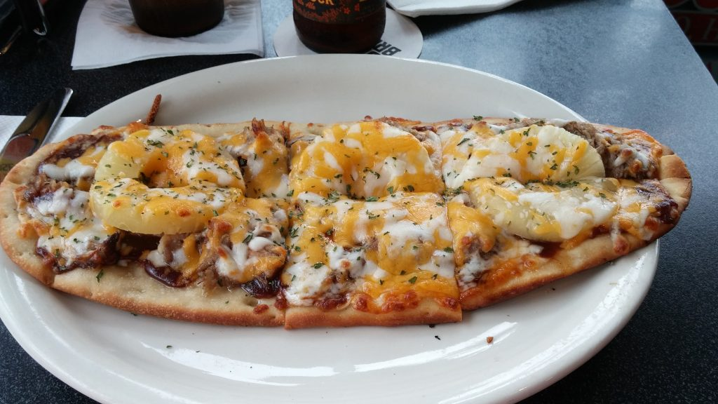 Flatbread pizza from Cronies. Photo credit: Marla Walters