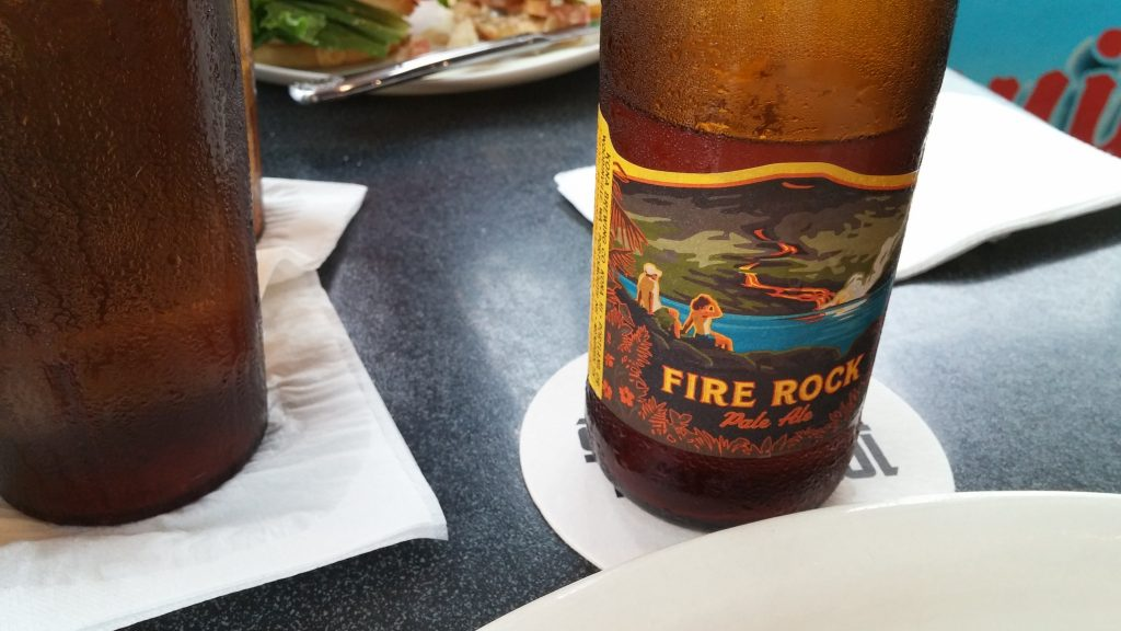 Fire Rock Pale Ale, Kona Brewing Co., at Cronie's, Hilo, Hawaii. Photo credit: Marla Walters