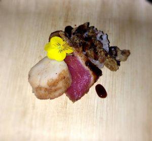firecracker-rice-with-blackened-ahi-seared-scallop-shitake-mushroom-courtyard-marriott