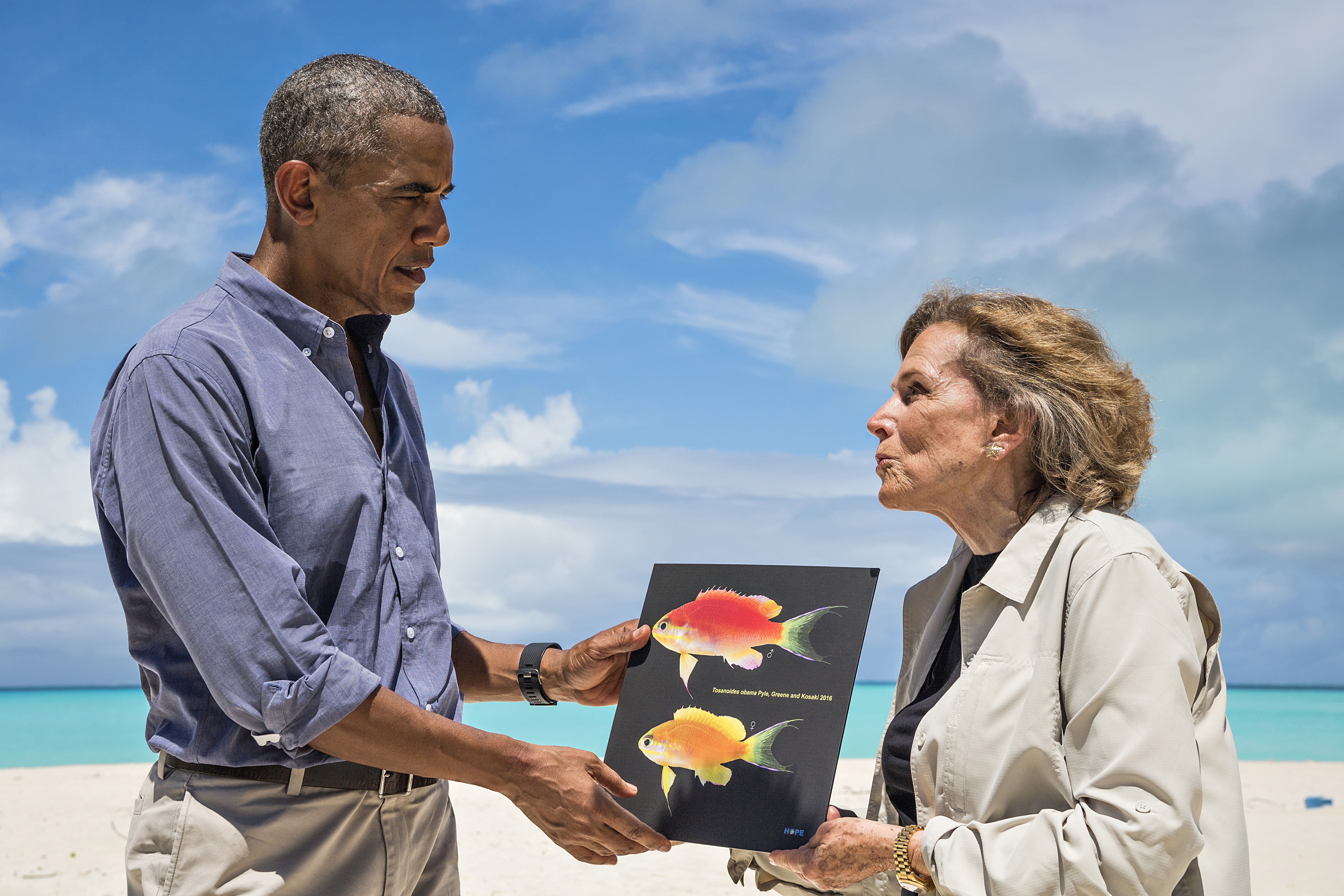 Newly discovered coral-reef fish named after Obama