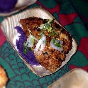 togarashi-dusted-mahi-over-molokai-sweet-potato-puree-and-haupia-sauce-huggos