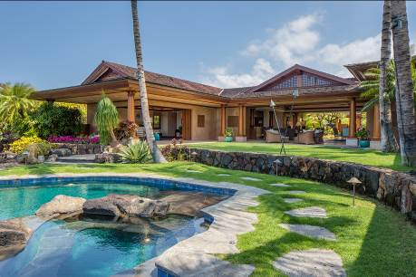 harold clark president of luxury big island brokered the 8950 million sale of this 6760 square foot home in the exclusive kukio neighborhood of the big