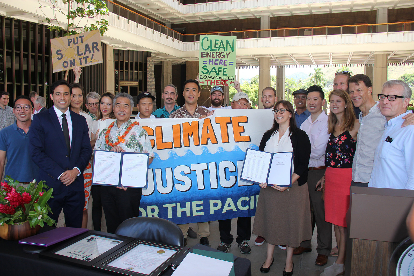 Hawaii enacts laws adopting Paris climate deal pledges