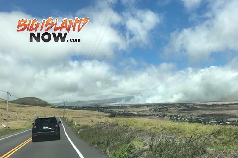 Waimea Big Island Fire