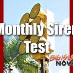 Siren Test Scheduled for April 1