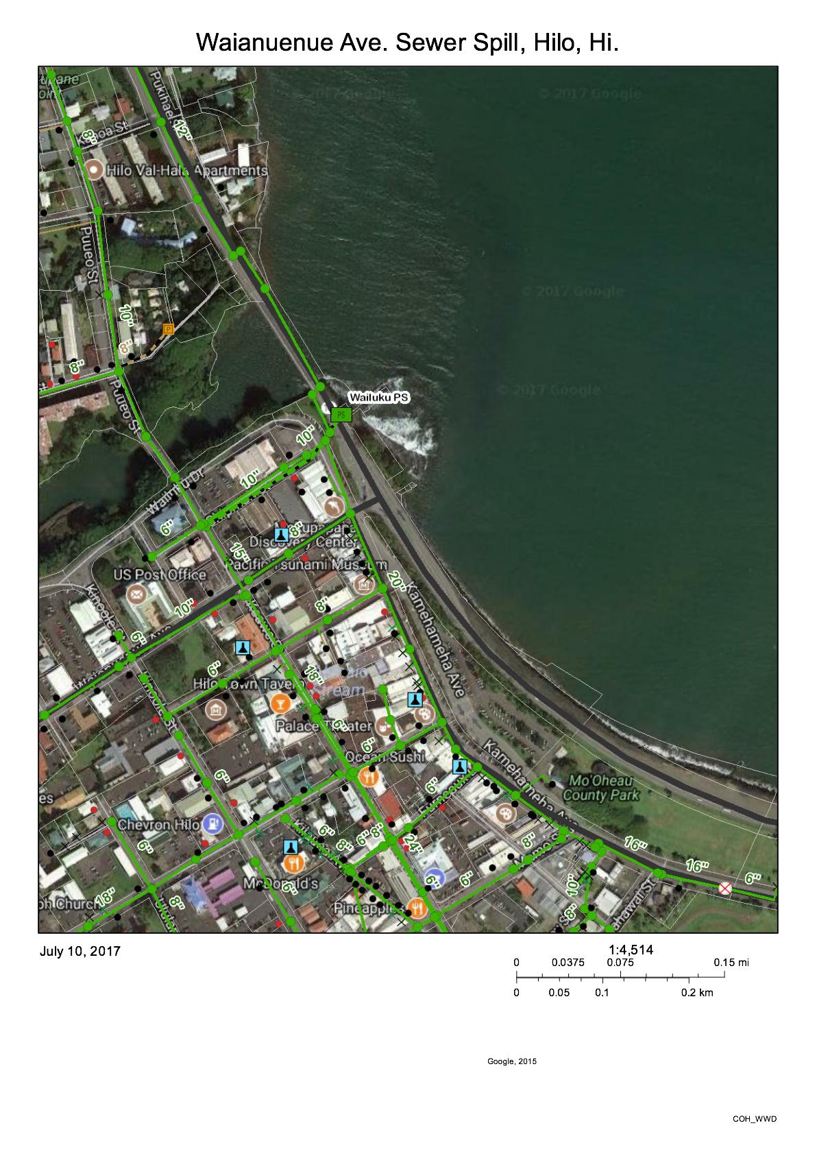 Wailuku River Map