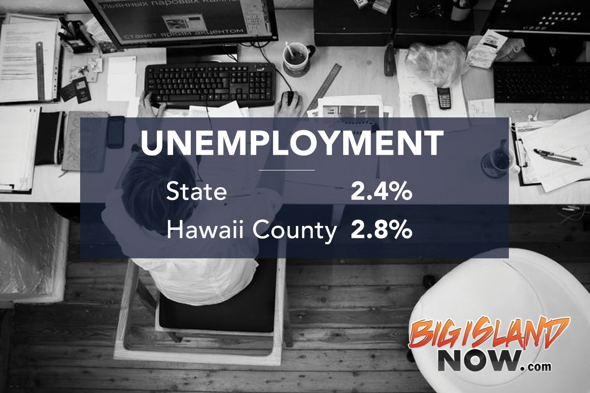 Big Island Unemployment Graphic