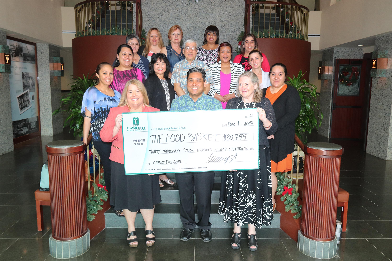 Hcfcu Raises Record 30 795 For Food Basket Big Island Now