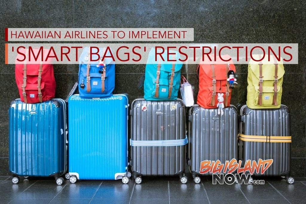 Hawaiian Airlines To Implement Smart Bags Restrictions