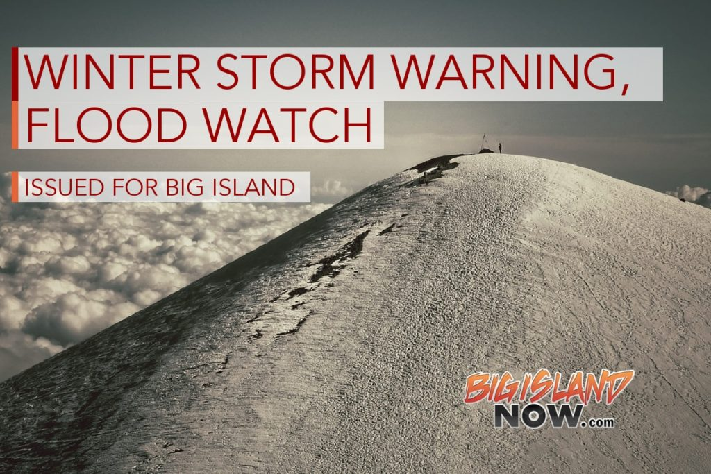 Winter Storm Warning: UPDATE: Snow On Summits, Flood Watch Continues For Big