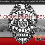 Suspicious Vehicle Near Brush Fire