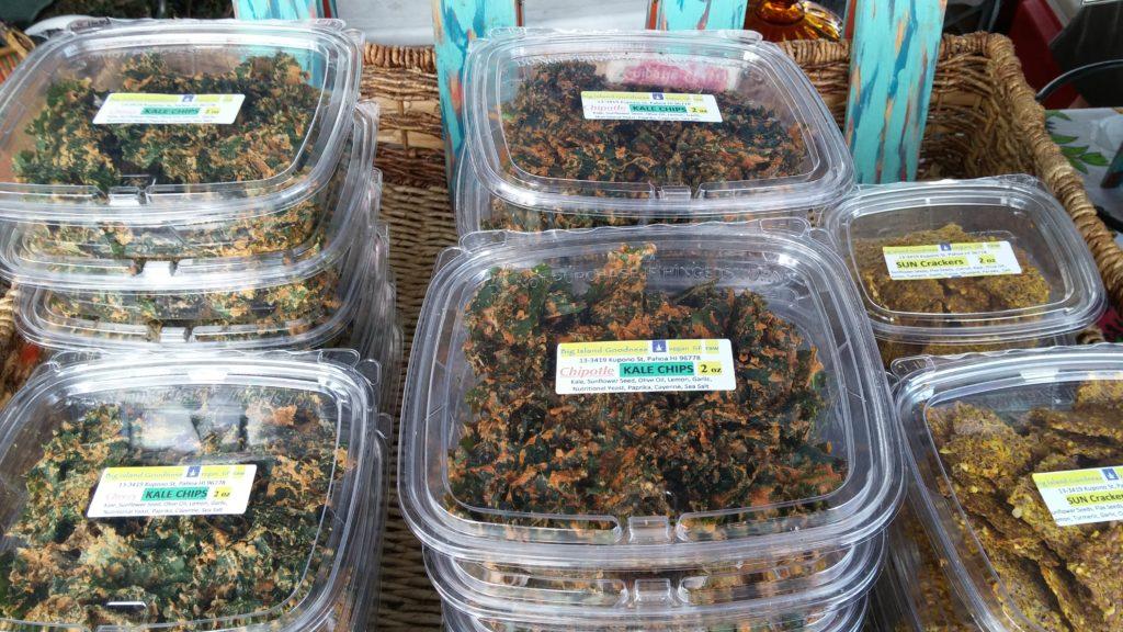 Big Island Goodness kale chips. PC: Marla Walters
